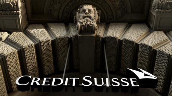 The logo of Swiss banking giant Credit Suisse is seen on October 17, 2017 in Zurich.