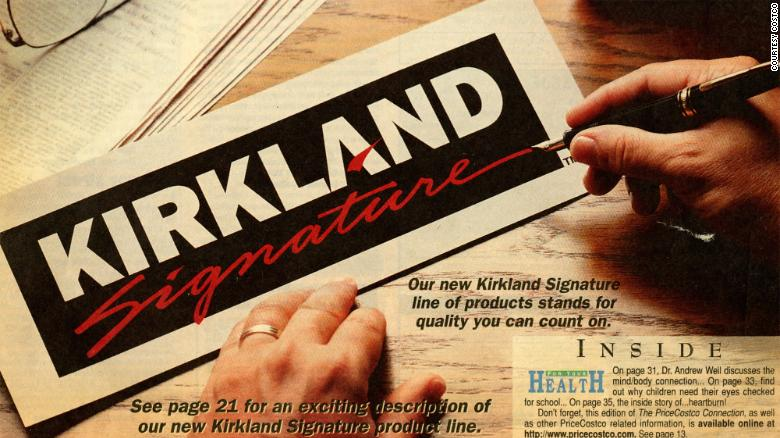 Costco introduced Kirkland Signature in 1995. Kirkland's sales reached $40 billion last year.