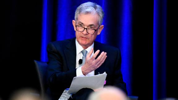 Federal Reserve Chairman Jerome Powell speaks at a conference, Friday, January 4, 2019, in Atlanta. Powell said that he will not resign if asked to do so by President Donald Trump, a message that heartened investors who had been concerned by Trump's repeated attacks on his hand-picked choice to lead the nation's central bank.
