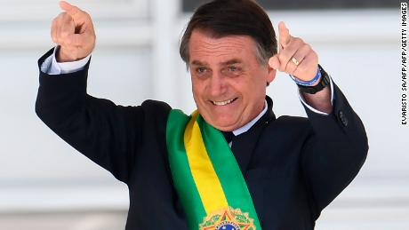 Jair Bolsonaro on January 1, 2019.