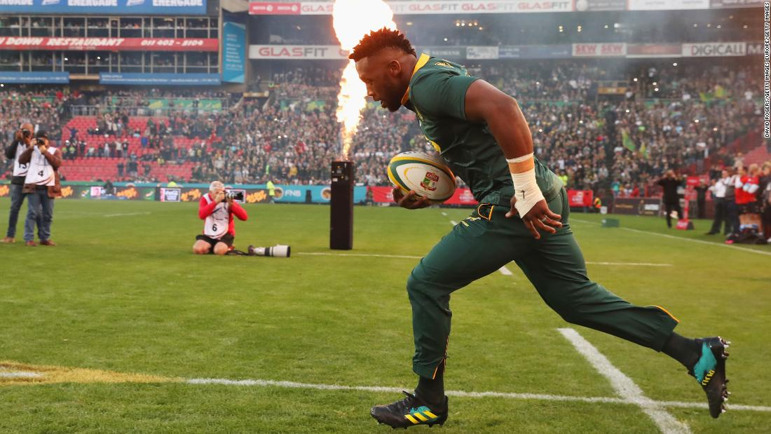 He led the side out for the first time at Ellis Park, Johannesburg, against England.