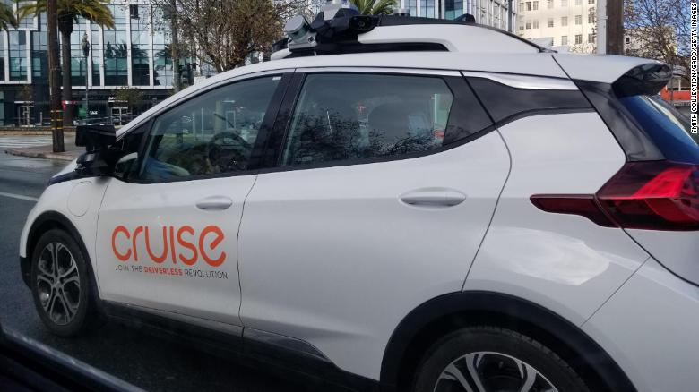 Cruise operates specially equipped Chevrolet Bolt Ev electric cars.