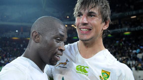 He was named man of the match on his international debut when South Africa defeated Scotland in Nelspruit on June 2013.