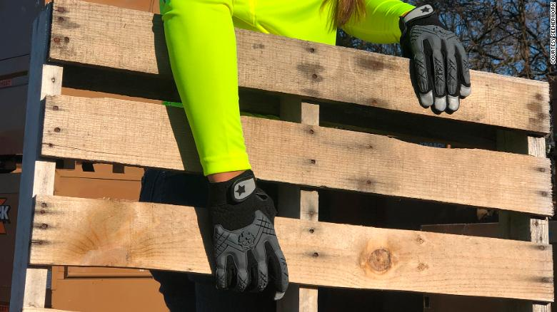 SeeHerWork designs and makes work wear specifically for women, including gloves to fit smaller hands.