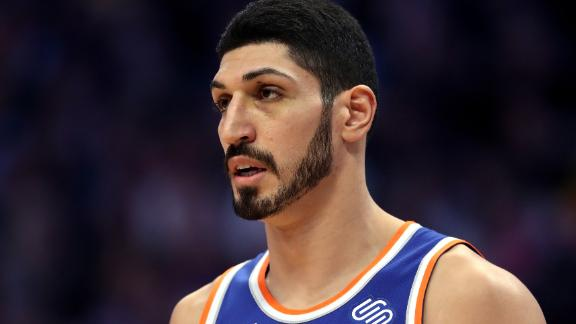 Enes Kanter will miss the Knicks' match in London this month.