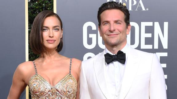 Irina Shayk and Bradley Cooper in January  at the Golden Globe Awards