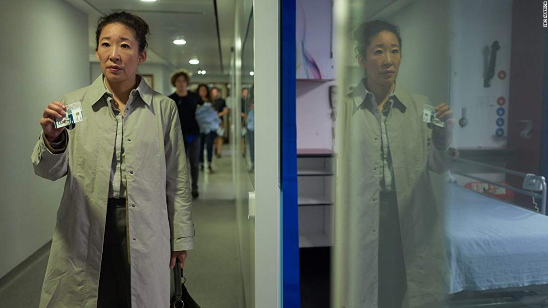 "<strong>Best actress in a television series -- drama:</strong> Sandra Oh, ""Killing Eve"""