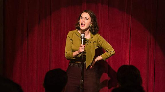 "Best actress in a television series -- musical or comedy: Rachel Brosnahan, ""The Marvelous Mrs. Maisel"""