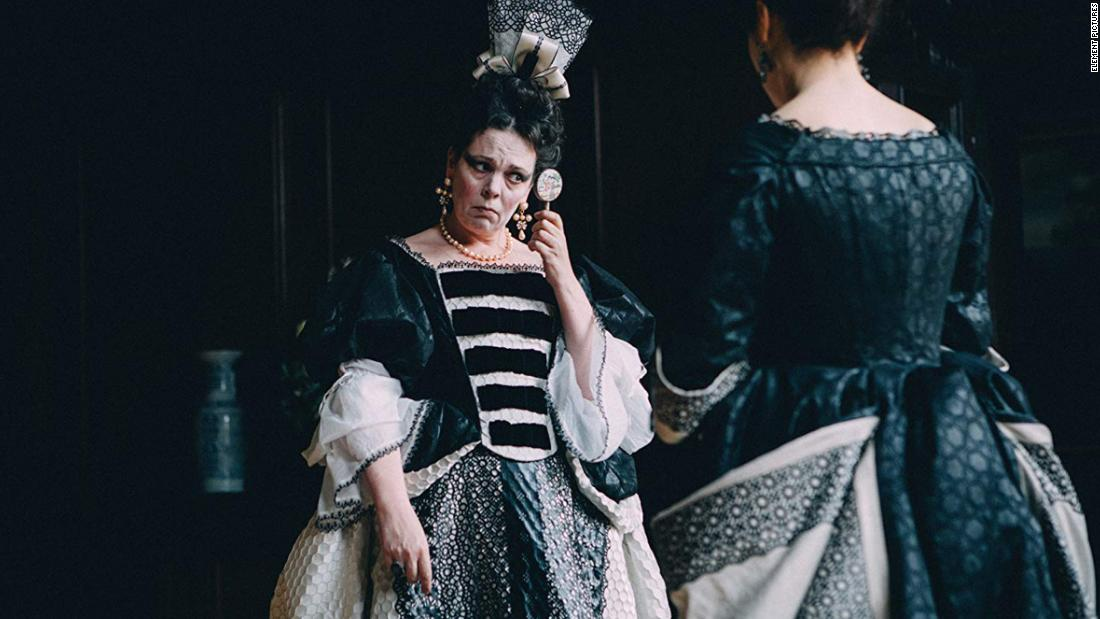 "<strong>Best actress in a motion picture -- musical or comedy:</strong> Olivia Colman, ""The Favourite"""