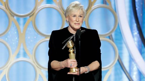Glenn Close won the Golden Globe for best actress in a drama for her performance in 'The Wife'