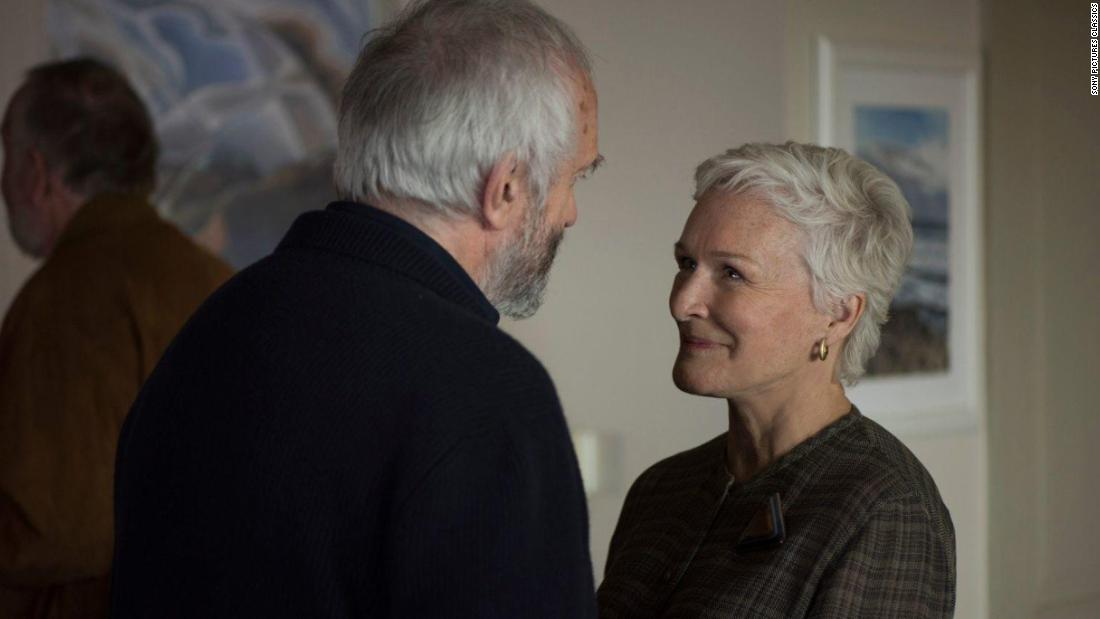 "<strong>Outstanding performance by a female actor in a leading role:</strong> Glenn Close, ""The Wife"""