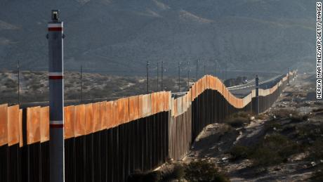 A view of the border wall between Mexico and the United States, in Ciudad Juarez, Chihuahua state, Mexico on January 19, 2018. The Mexican government reaffirmed on January 18, 2018 that they will not pay for US President Donald Trump's controversial border wall and warned that the violence in Mexico is also the result of the heavy drug consumption in the United States. / AFP PHOTO / Herika MARTINEZ        (Photo credit should read HERIKA MARTINEZ/AFP/Getty Images)