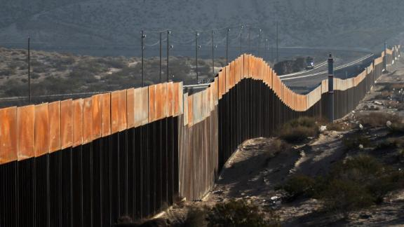 A view of the border wall between Mexico and the United States, in Ciudad Juarez, Chihuahua state, Mexico on January 19, 2018. The Mexican government reaffirmed on January 18, 2018 that they will not pay for US President Donald Trump