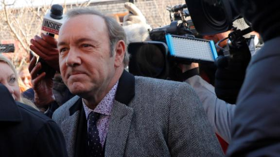 Actor Kevin Spacey arrived to face a charge of indecent assault and battery in Nantucket, Massachusetts, on January 7, 2019.
