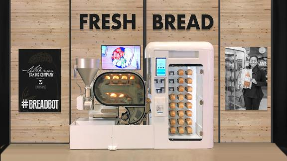 The Breadbot can make 10 loaves per hour.