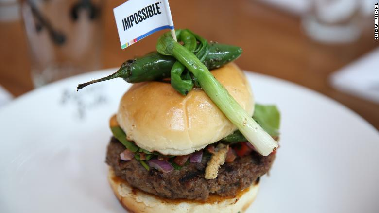 The Impossible Foods company has a new version of its Impossible burger.
