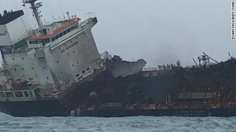 Significant damage could be seen on the ship.
