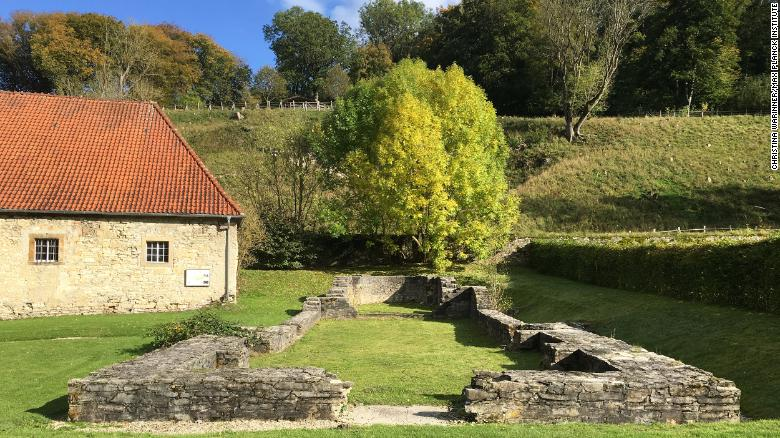 Foundations of the church associated with a medieval women's religious community at Dalheim, Germany.