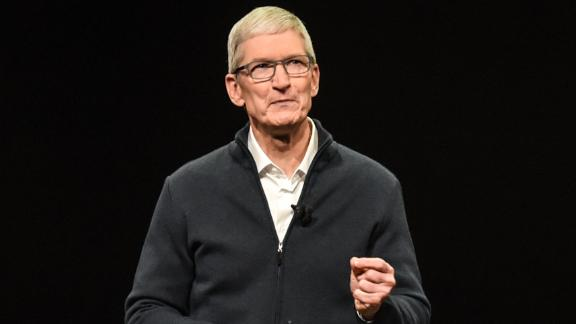 Tim Cook, CEO of Apple unveils new products during an Apple launch event at the Brooklyn Academy of Music on October 30, 2018.