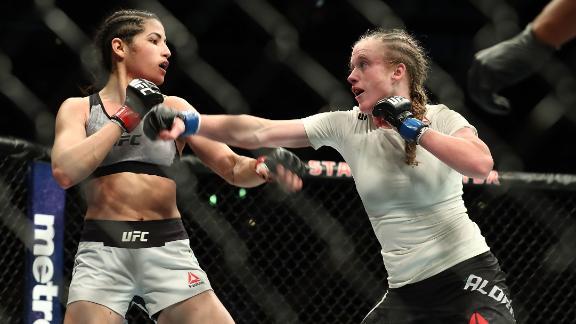 "Polyana Viana (left) told CNN Sport she felt ""calm"" throughout the incident."