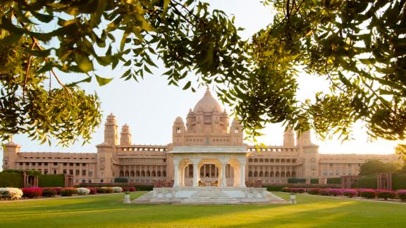 A general view of the Umaid Bhawan Palace where the Indian wedding of Liz Hurley and Arum Nayar took place in Jodhpur, India.