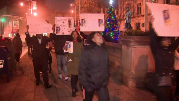 Protesters calling for answers in Jameek Lowery's death march in Paterson on Tuesday.