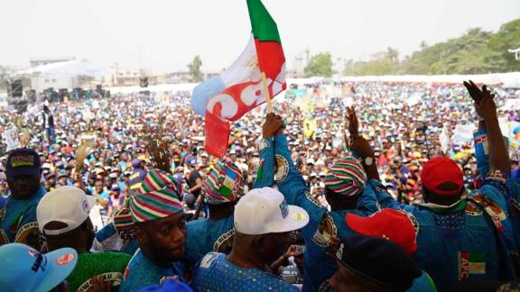Party supporters at Nigeria