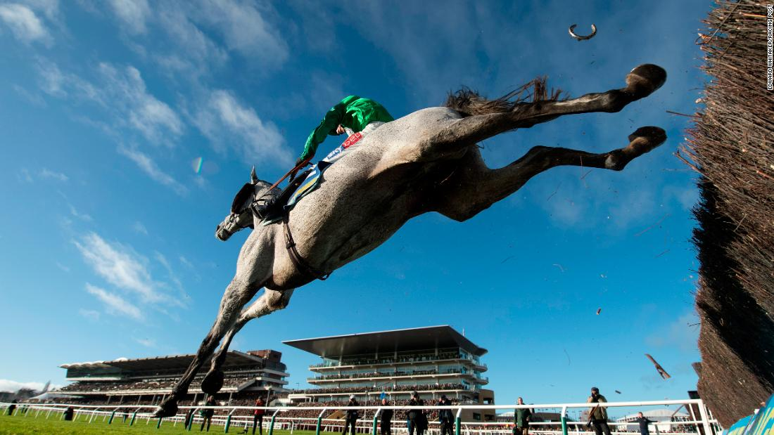 "Whitaker's luck was in with this picture from Cheltenham last January when he discovered the flying horseshoe. It was part of his portfolio that won an eighth photographer of the year award. ""It was a remote picture from under the fence shooting into a clear blue sky. It was a nice picture anyway but the fact the shoe fell off and pointed upright was just unique. I'd never seen anything like it. That's why photography is so exciting."""