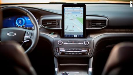 A 10-inch vertically-mounted touchscreen is optional in the new Ford Explorer.