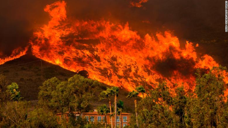 Wildfires hit California last year.