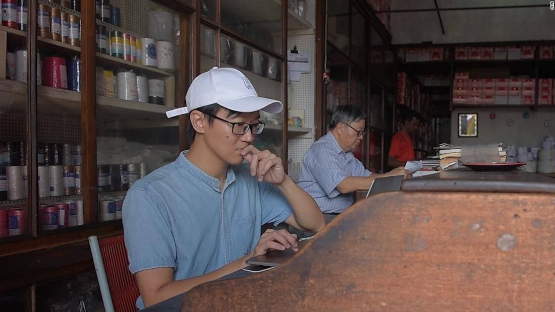"Stephan Ah-Sen is a choreographer who had been living abroad, in Singapore, for the last 17 years. He recently returned to Mauritius to help his father run the family business. This shop in Chinatown has been in his family for over half a century. ""I am one of the rare ones to come back and stay to work in the shop,"" he said."