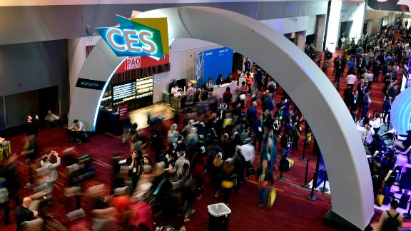 LAS VEGAS, NEVADA - JANUARY 08:  Attendees walk along during CES 2019 at the Las Vegas Convention Center on January 8, 2019 in Las Vegas, Nevada. CES, the world's largest annual consumer technology trade show, runs through January 11 and features about 4,500 exhibitors showing off their latest products and services to more than 180,000 attendees. (Photo by David Becker/Getty Images)