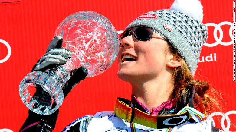 She ended a remarkable season with a first World Cup slalom crown, which she defended the following year.