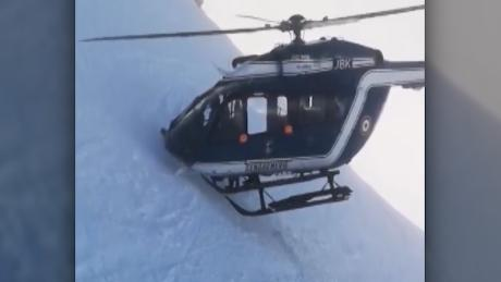 helicopter rescue french alps