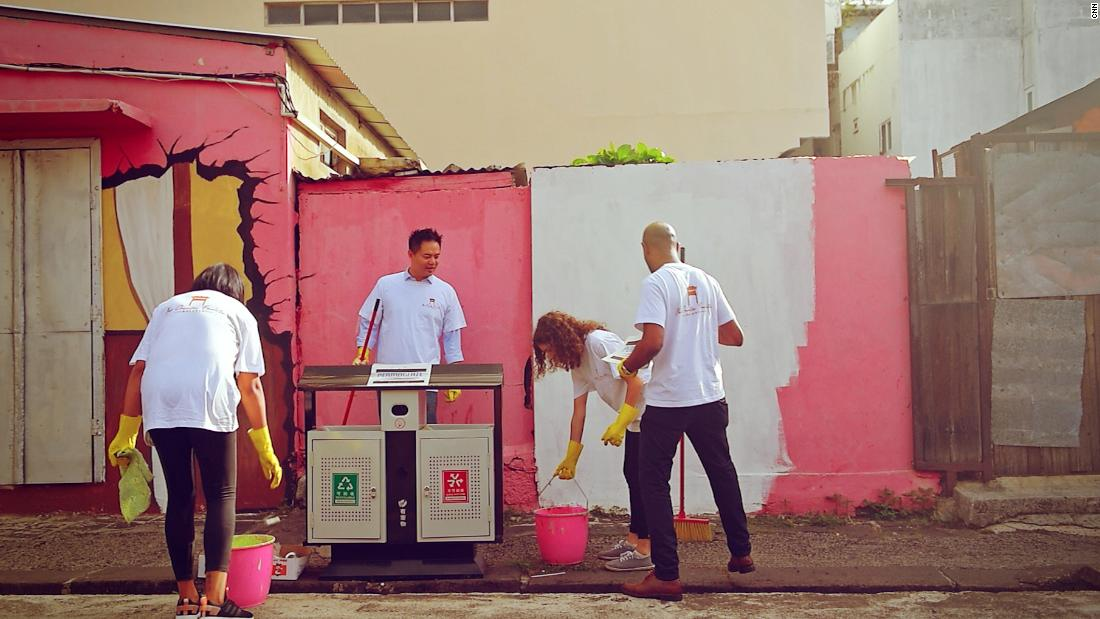 "Younger residents are helping to repaint old buildings. ""We are seeing shops closing down because no one is around to take up the shop and continue the legacy in a way because a lot of the kids who go abroad overseas to study they don't come back,"" said Ah-Sen."