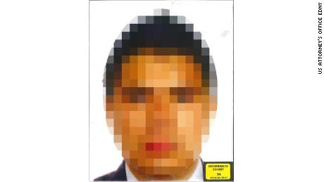 Prosecutors released this pixelated photo of Christian Rodriguez to protect his identity, after he gave authorities access to El Chapo's private communications.