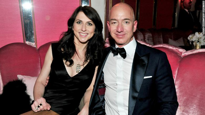 Image result for MacKenzie Bezos will keep 25% of the Bezos' Amazon stock. Jeff Bezos keeps the voting power