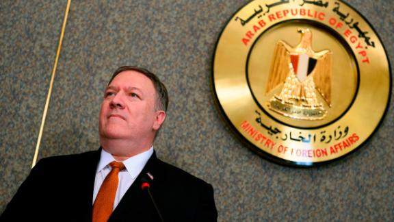 US Secretary of State Mike Pompeo holds a joint press conference with his Egyptian counterpart following their meeting at the ministry of foreign affairs in Cairo on January 10, 2019. (ANDREW CABALLERO-REYNOLDS/AFP/Getty Images)