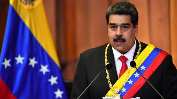 President Nicolas Maduro delivers a speech January 10 after being sworn in for a second term.