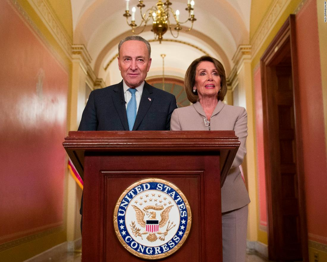 "Senate Minority Leader Chuck Schumer and House Speaker Nancy Pelosi delivered a rebuttal after Trump's speech. ""President Trump must stop holding the American people hostage, must stop manufacturing a crisis and must reopen the government,"" Pelosi said."