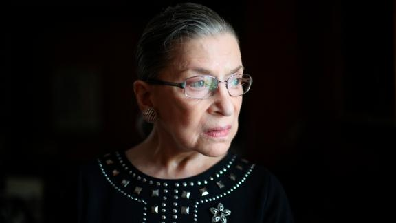 """FILE-- Justice Ruth Bader Ginsburg in her chambers in Washington, Aug. 23, 2013. Ginsburg on July 14, 2016, apologized for her recent remarks about the candidacy of Donald Trump, saying """"On reflection, my recent remarks in response to press inquiries were ill-advised, and I regret making them."""" (Hilary Swift/The New York Times)"""