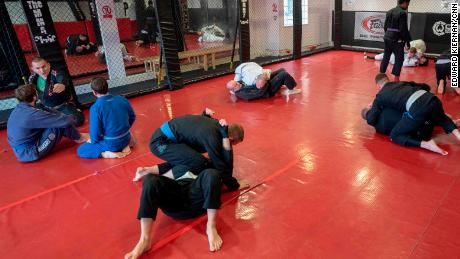 Brazilian Jiu Jitsu fighters work hard in the clinic, which has been in Romford for over a decade.