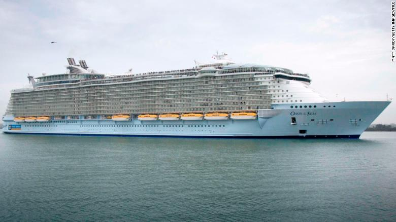 Oasis of the Seas, shown in a file photo, holds more than 8,000 people; about 3% of people aboard the ship fell ill.