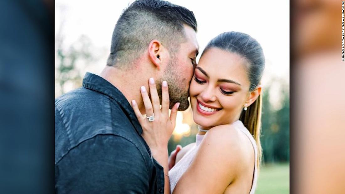 Former NFL quarterback Tim Tebow is officially a married man
