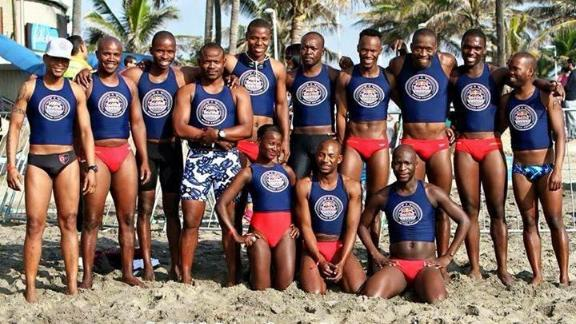 Mhlengi Gwala with Durban's Marine Surf Lifesaving Club.