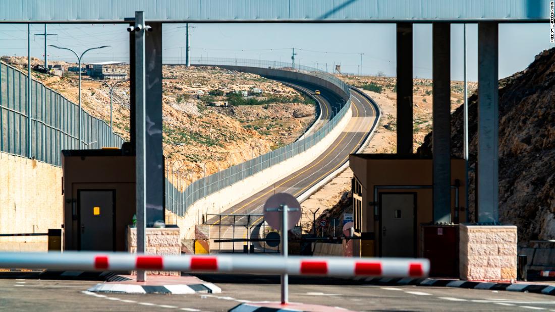 A wall runs through it: New road divides Israelis and Palestinians