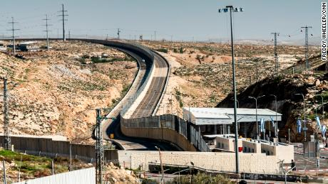"The newly constructed Route 4370 in the West Bank has been criticized as an ""apartheid road."""