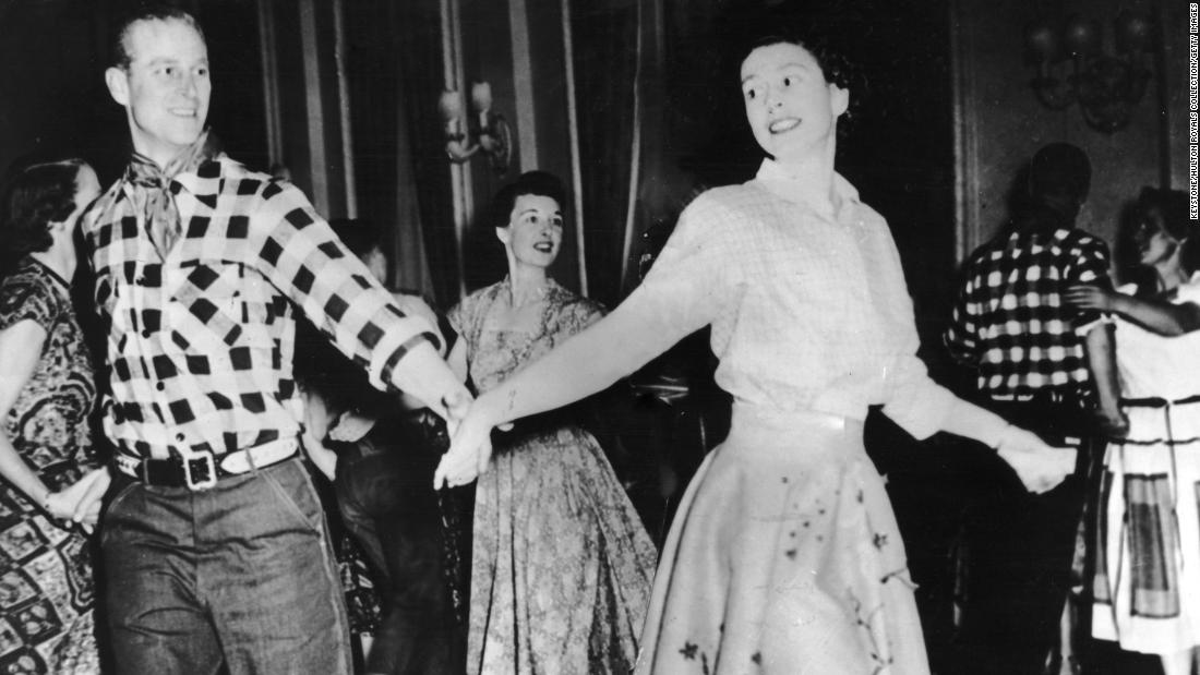 Prince Philip and Princess Elizabeth dance in Ottawa in October 1951.