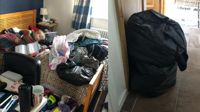 """""""It's definitely worth giving #KonMari a go,"""" tweeted Hannah Johnson, along with an impressive before and after."""