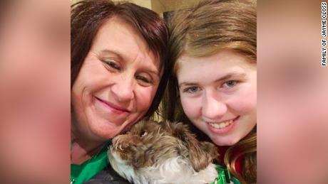 Jayme Closs, with her dog, Molly, and an aunt